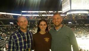Three Bonnies at the A10 Tournament in Brooklyn.