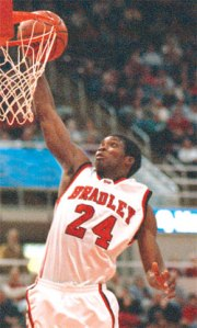 Jerome Robinson during his playing days at Bradley.