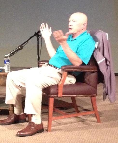 St. Bonaventure Hall of Famer Billy Kalbaugh being interviewed at the Jackson Center in Jamestown.